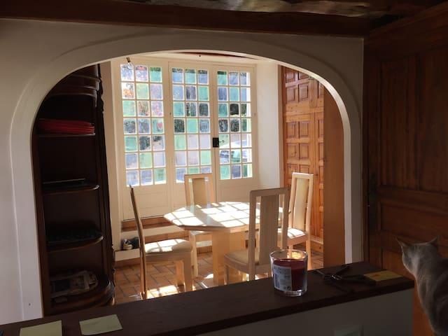 Chambres dans une maison bâtie en 1780 ! - Prunay-Cassereau - Daire