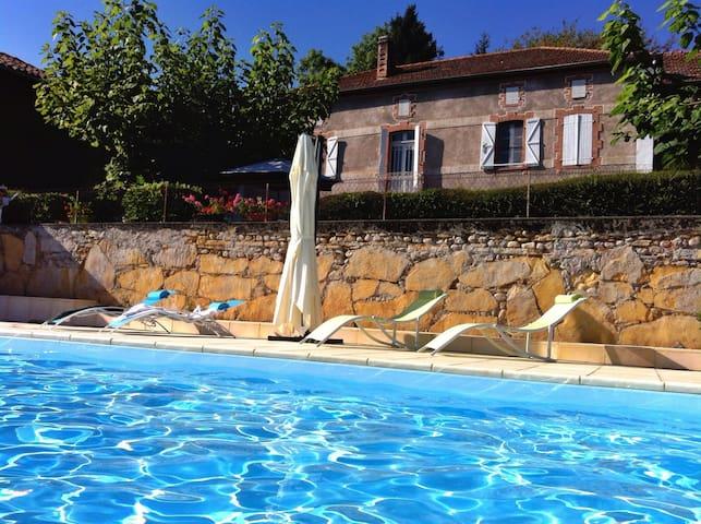 Pyrenees Bed and Breakfast, panoramic views, pool - Loudet - Bed & Breakfast