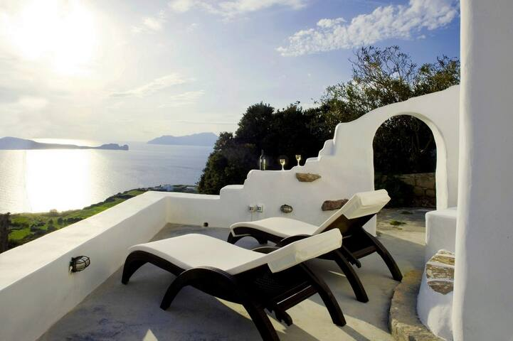 Apartment with sunset view in Plaka - Plaka