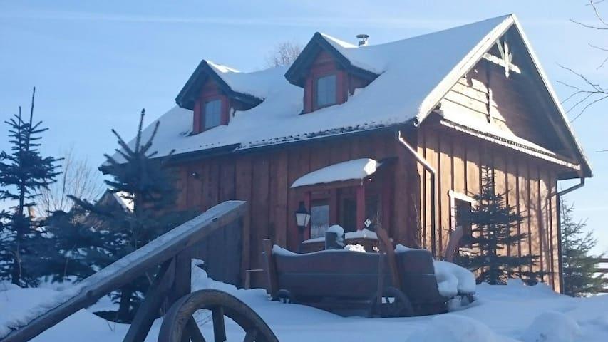 Chata drewniana Stefanòwka - Ślemień - Dağ Evi