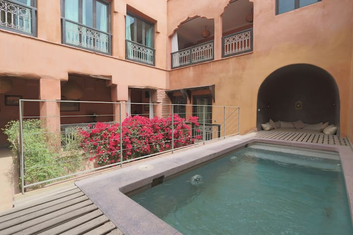 Double room Khadija, Riad with pool - Marrakesh - Inap sarapan