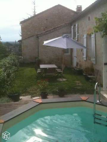 House 200 M2 with swimming pool 8 p - Ligardes - Ev