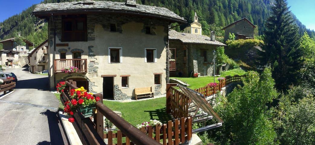 Rustico con tipica Taverna - Valgrisenche - Appartement