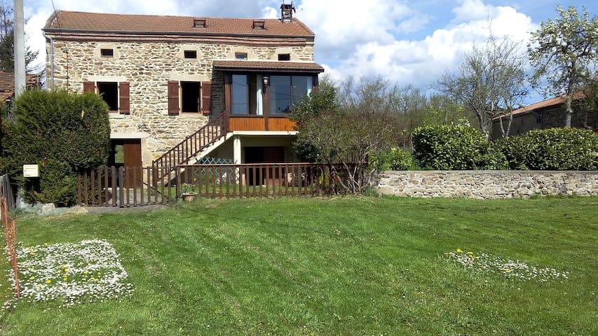 Cozy cottage built of fieldstone - Saint-Martin-d'Ollières - Casa