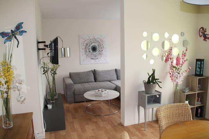 Apartment in ecrain of greenery - Rouen - Apartamento