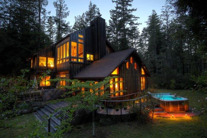Forest View Room/Redwoods/Hot Tub/Yurt-Art Studio - Mendocino