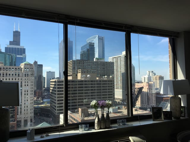 Sunny high-rise apartment in Chicago's River North - Chicago - Wohnung