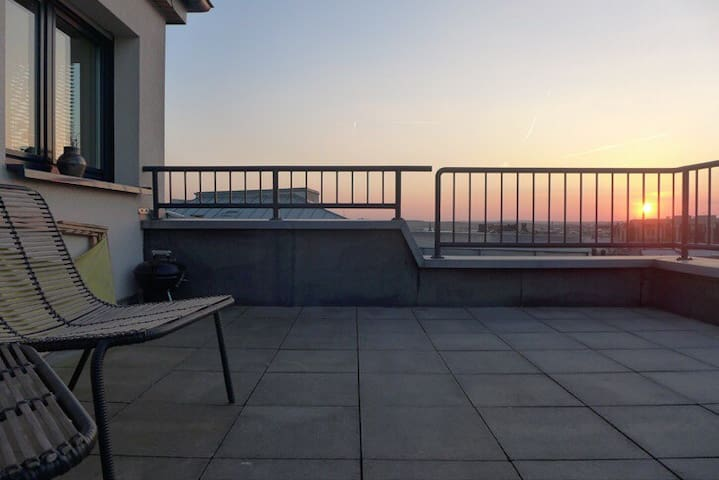 Central penthouse with top view ! - Luxembourg - Apartemen