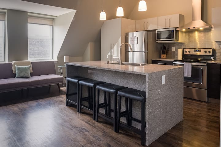 PENTHOUSE APT IN HEART OF DOWNTOWN W/ FREE PARKING - Milwaukee - Appartement