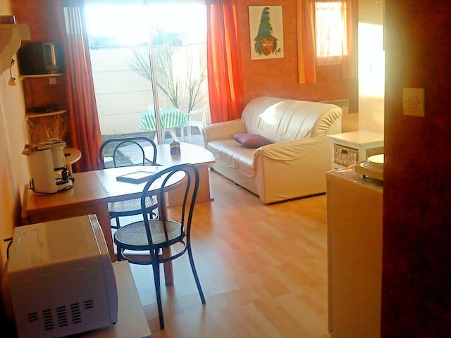 Beau studio 30 m2 avec terrasse sur jardin clos - Ludon-Médoc - Hus