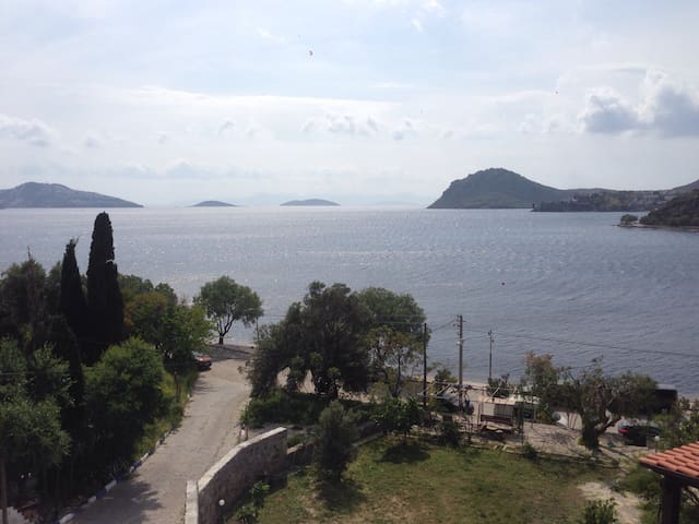 Sea view from living room - Yalıkavak Belediyesi - Departamento