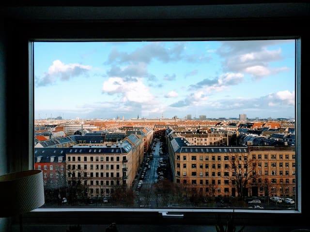 Light Penthouse in Central Copenhagen - Frederiksberg - Appartamento