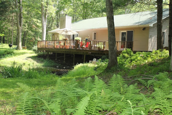 Lake House in the Idyllic Woods - Sandyston - Huis