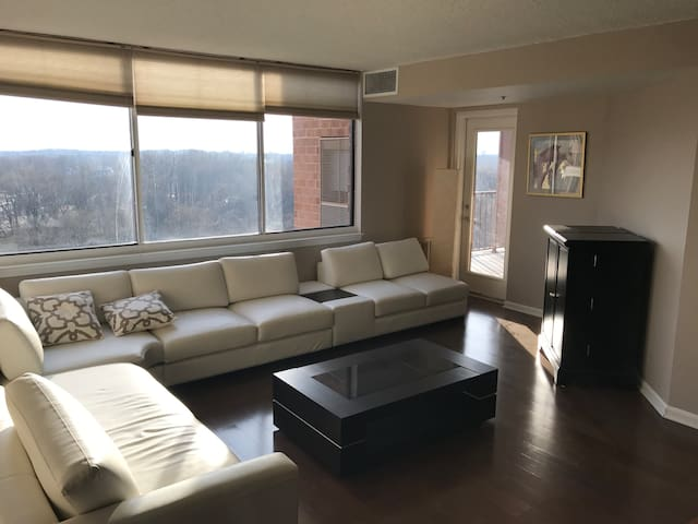 Entire Apartment with a Lot of Light & Great View - Rockville - Appartement