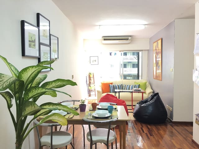 super nice 4p,2 Fashion room close to all central - Bangkok
