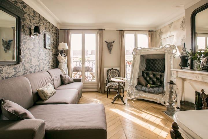Superb flat 3 rooms, great location - París - Pis