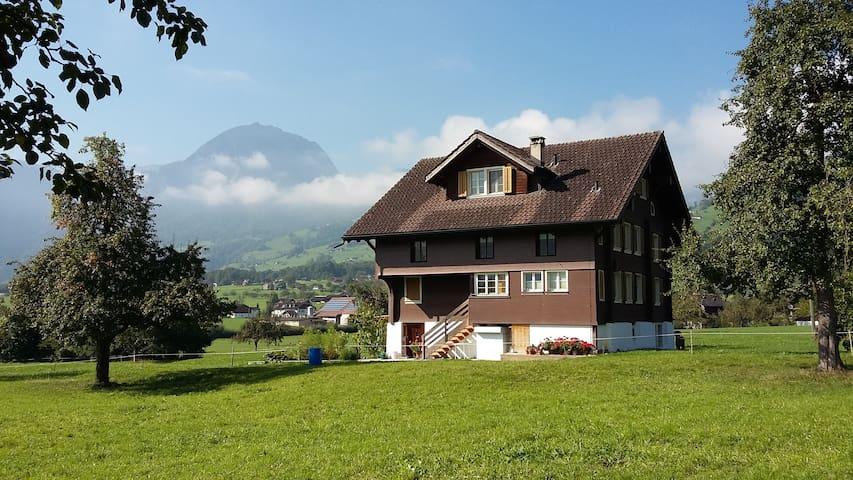 Wohnung im Grünen mit herrlicher Aussicht - Giswil