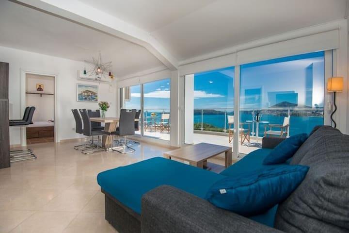 Apartment with spectacular sea view - Pržno - Apartament