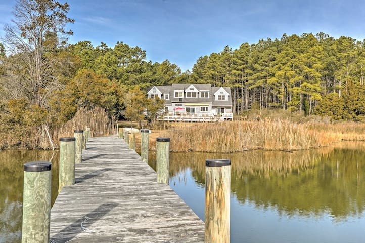 'Fishing Cove' Waterfront 8BR Cambridge House - Cambridge - Huis