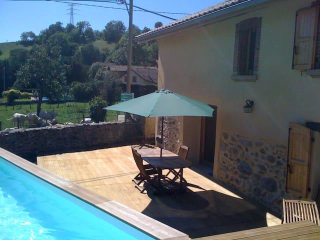 Maison de campagne avec piscine. - Réaumont - Hus