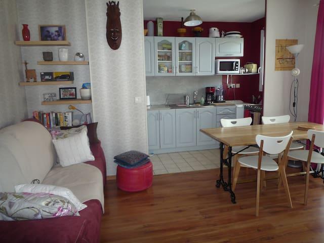 Bel appartement 2 pieces 40m2 centre ville Chelles - Chelles - Apartemen