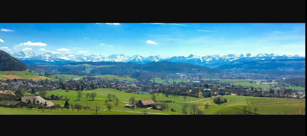 Natural, nice view, close from Berne city - Bolligen - Apartemen