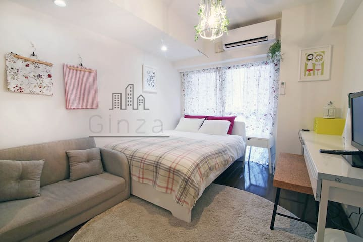 #12 Downtown Ginza! Near Tsukiji Fish Market! - Chūō-ku - Appartement