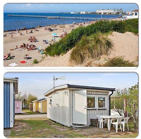 Modern badhytt vid Skrea Strand - Falkenberg - Cabane
