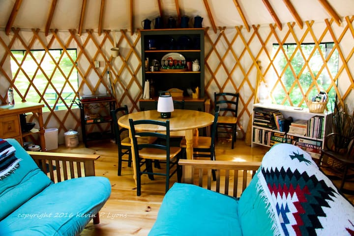 Pine Cone Yurt at Pleasant Pond (private off-grid) - Turner