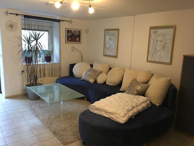1-Zimmer-Wohnung, renoviert, voll ausgestattet - Lautertal (Odenwald) - Leilighet