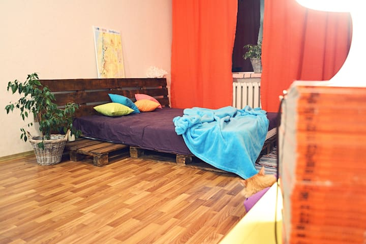 spacious room in Kiev for travelers - Kiev - Apartment