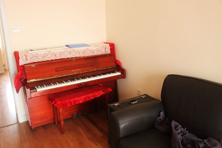 Cozy apartment with piano and feather sofa - Tianjin - Wohnung