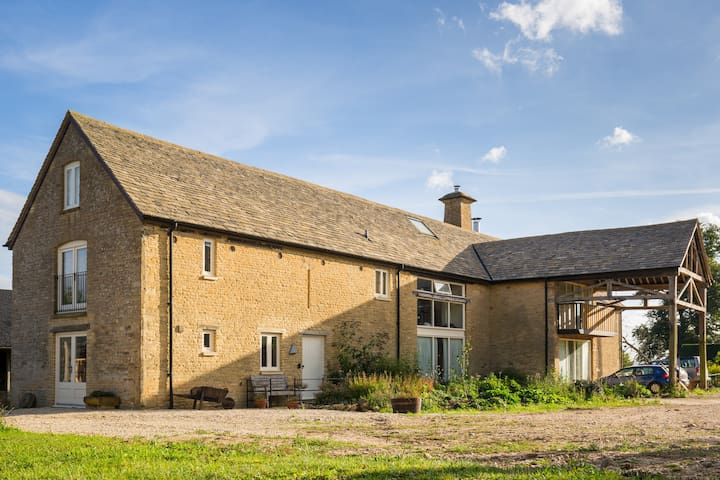 Our stone barn farmhouse guest wing - Chadlington - Huis