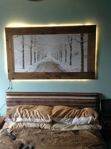 Homely country cottage themed double bed room - Winlaton - Casa