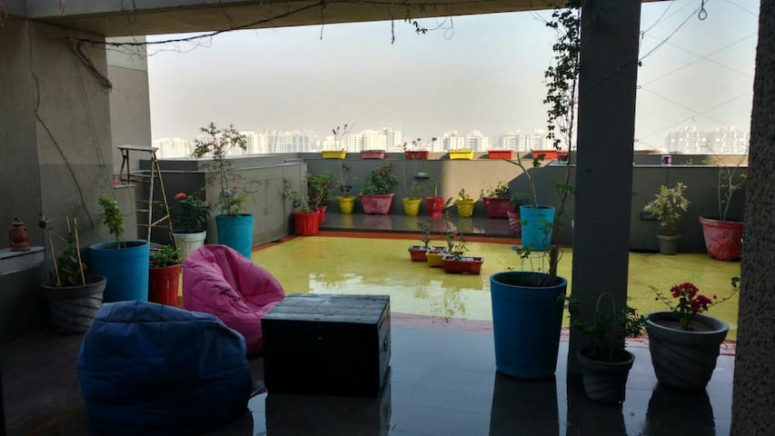 Homestay with Private Terrace Garden - Ahmedabad