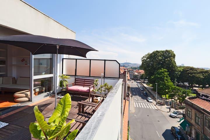 Big TERRACE APARTMENT / city center - Porto - Appartement