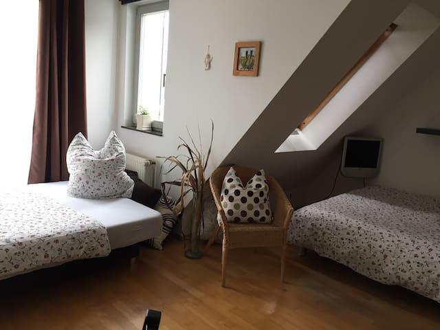 Helles,sonniges Zimmer in Nähe Stadion, Messe, Uni - Dortmund - Hus