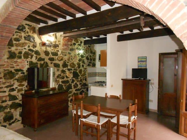 Characteristic studio apartment 20 min to the sea - Giuncarico - Apartemen