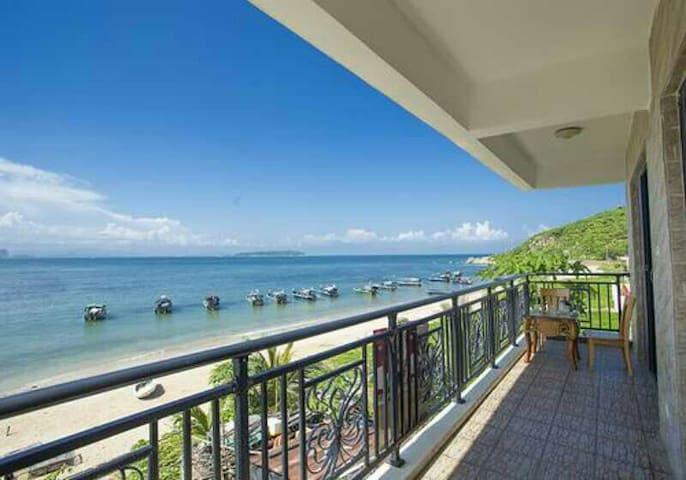 蜈蚑洲岛海域一线海景,两房一厅套房 - Sanya - Huis