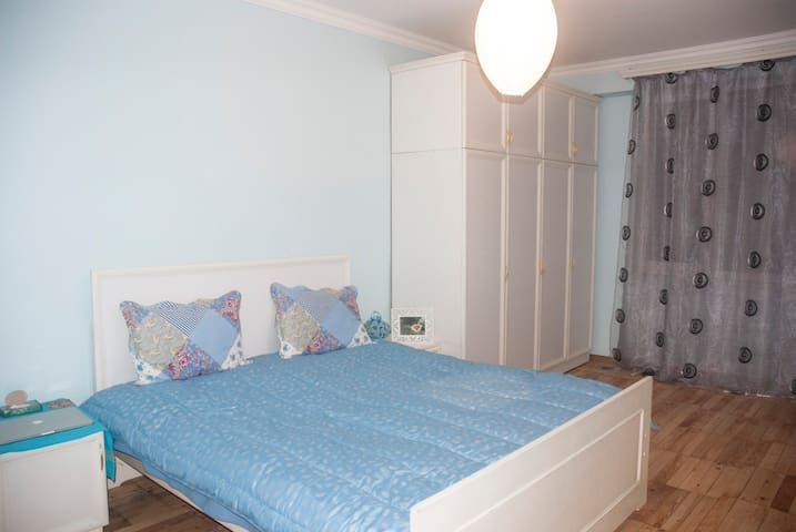 Blue & Cozy room in a bright and sunny apartment - Yerevan