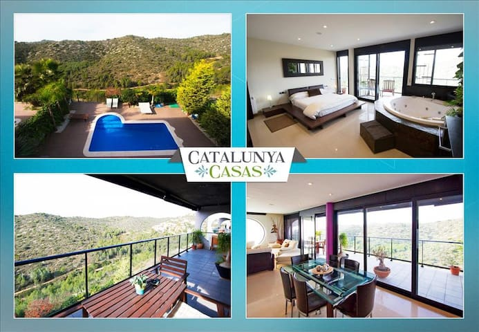 Modern villa in Calafell for 8 guests, only 4km to the beaches of Costa Dorada! - Costa Dorada - 別荘