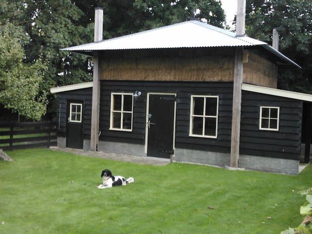 Slapen in de hooibergkap nabij onze boerderij. - Slootdorp - 小木屋