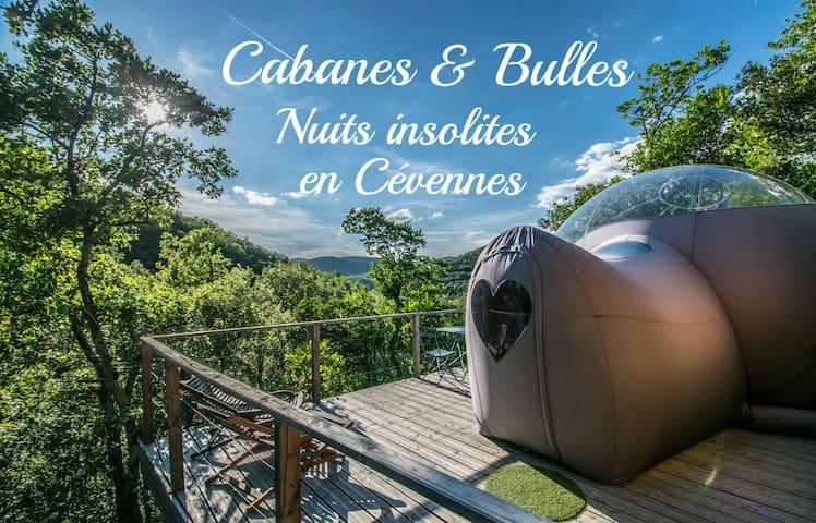 cabanes&bulles hebergements insolites en Cévennes - Mialet