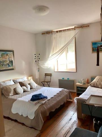 La chambre Romantique 1 à 3 personnes - Dolomieu
