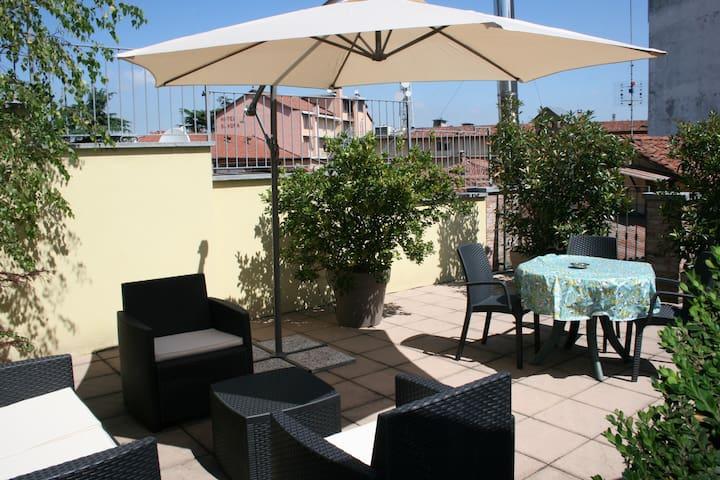 il Terrazzo DiVino, a terrace in the heart of Alba - Alba - Loft
