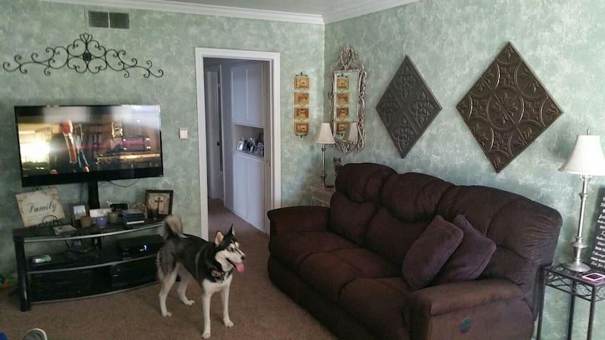 Couch in Bellflower home w/Pool! - Bellflower - Huis
