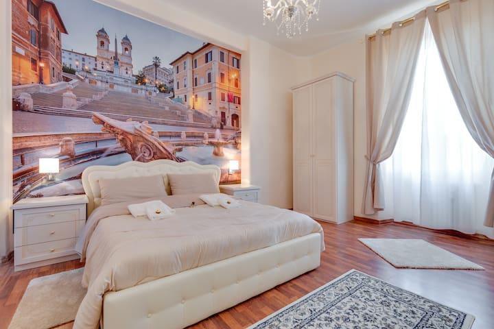 Room Spagna near STATION TERMINI PRIVATE BATHROOM - Rome
