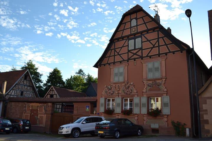 "Maison d'hôtes ""Au Freidbarry"" - Schillersdorf - Oda + Kahvaltı"