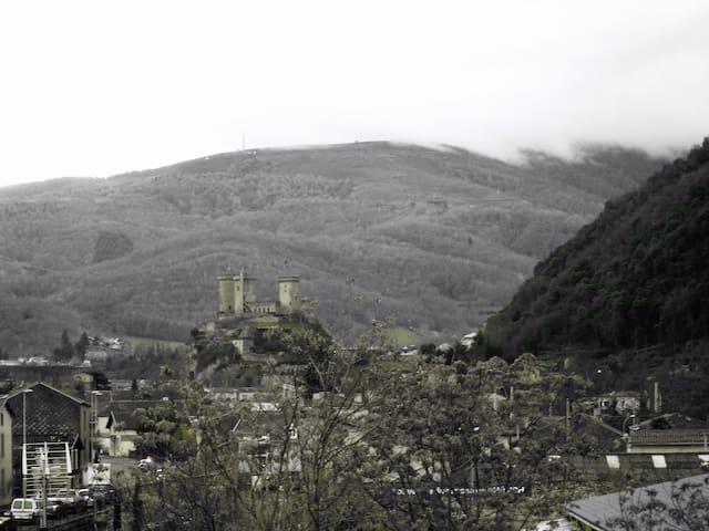 Bel appartement 55m² vue château et montagnes - Foix - Lägenhet