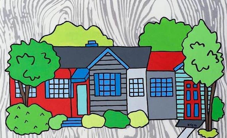 Friendly Neighborhood ~ Private Room & Bathroom - Birmingham - Casa
